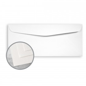 Via Felt Bright White Envelopes - No. 10 Commercial (4 1/8 x 9 1/2) 70 lb Text Felt  30% Recycled 500 per Box