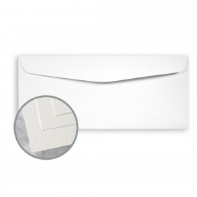 Via Felt Cool White Envelopes - No. 10 Commercial (4 1/8 x 9 1/2) 70 lb Text Felt  30% Recycled 500 per Box