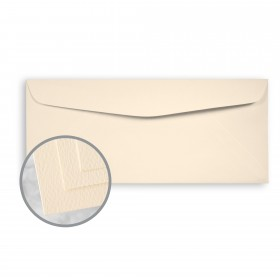 Via Felt Cream White Envelopes - No. 10 Commercial (4 1/8 x 9 1/2) 70 lb Text Felt  30% Recycled 500 per Box