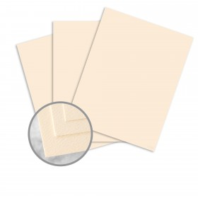Via Felt Warm White Card Stock - 26 x 40 in 65 lb Cover Felt  30% Recycled 500 per Carton