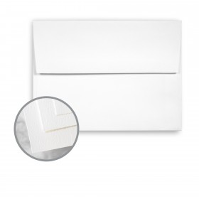 Via Felt Pure White Envelopes - A6 (4 3/4 x 6 1/2) 70 lb Text Felt 250 per Box