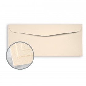 Via Felt Warm White Envelopes - No. 10 Commercial (4 1/8 x 9 1/2) 70 lb Text Felt  30% Recycled 500 per Box