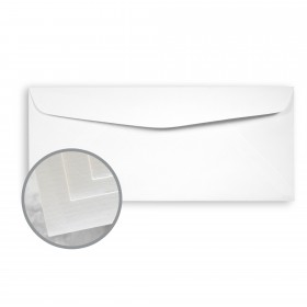 Via Laid Bright White Envelopes - No. 10 Commercial (4 1/8 x 9 1/2) 24 lb Writing Laid  30% Recycled 500 per Box