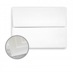 Via Laid Bright White Envelopes - A2 (4 3/8 x 5 3/4) 70 lb Text Laid  30% Recycled 250 per Box