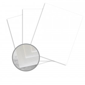 Via Laid Bright White Card Stock - 26 x 40 in 80 lb Cover Laid  30% Recycled 500 per Carton