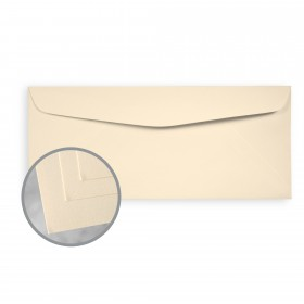 Via Laid Ivory Envelopes - No. 10 Commercial (4 1/8 x 9 1/2) 24 lb Writing Laid  30% Recycled 500 per Box