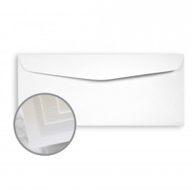 Via Laid Pure White Envelopes - No. 10 Commercial (4 1/8 x 9 1/2) 24 lb Writing Laid 500 per Box