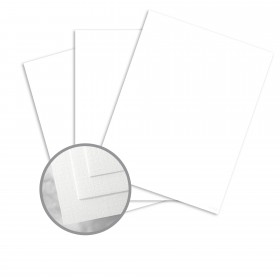 Via Linen 100% Cool White Card Stock - 23 x 35 in 80 lb Cover Linen  100% Recycled 500 per Carton