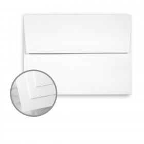 Via Linen Bright White Envelopes - A7 (5 1/4 x 7 1/4) 70 lb Text Linen  30% Recycled 250 per Box