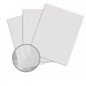 Via Linen Bright White Fiber Card Stock - 26 x 40 in 80 lb Cover Linen  30% Recycled 500 per Carton