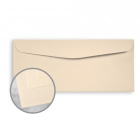 Via Linen Cream White Envelopes - No. 10 Commercial (4 1/8 x 9 1/2) 24 lb Writing Linen  30% Recycled Watermarked 500 per Box