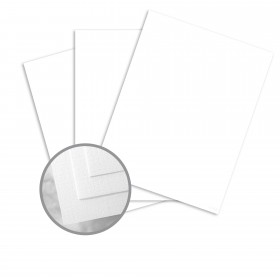 Via Linen Bright White Card Stock - 26 x 40 in 65 lb Cover Linen  30% Recycled 500 per Carton