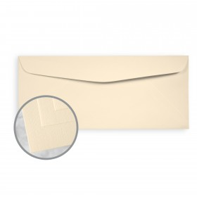 Via Linen Ivory Envelopes - No. 10 Commercial (4 1/8 x 9 1/2) 24 lb Writing Linen  30% Recycled Watermarked 500 per Box