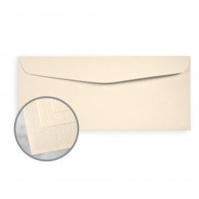 Via Linen Natural Envelopes - No. 10 Commercial (4 1/8 x 9 1/2) 24 lb Writing Linen  30% Recycled Watermarked 500 per Box