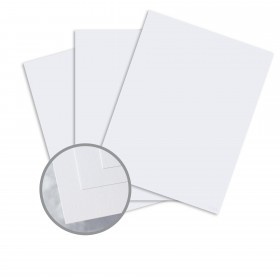 Via Satin Blue White Card Stock - 26 x 40 in 80 lb Cover Satin  30% Recycled 500 per Carton