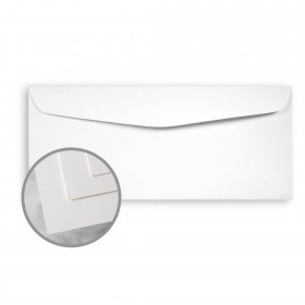 Via Satin Bright White Envelopes - No. 10 Commercial (4 1/8 x 9 1/2) 70 lb Text Satin  30% Recycled 500 per Box