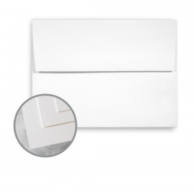 Via Satin Bright White Envelopes - A7 (5 1/4 x 7 1/4) 70 lb Text Satin  30% Recycled 250 per Box