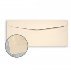 Via Satin Cream White Envelopes - No. 10 Commercial (4 1/8 x 9 1/2) 70 lb Text Satin  30% Recycled 500 per Box