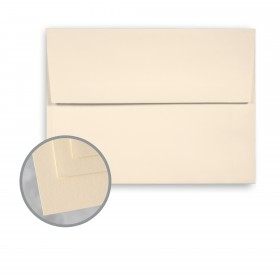 Via Satin Cream White Envelopes - A6 (4 3/4 x 6 1/2) 70 lb Text Satin  30% Recycled 250 per Box