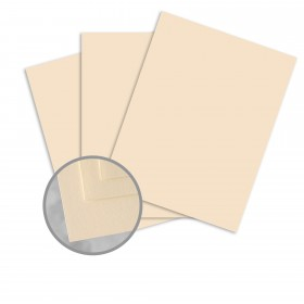 Via Satin Cream White Card Stock - 8 1/2 x 11 in 80 lb Cover Satin  30% Recycled 250 per Package