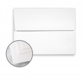 Via Satin Pure White Envelopes - A7 (5 1/4 x 7 1/4) 70 lb Text Satin 250 per Box