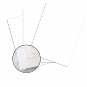 Via Satin Pure White Card Stock - 26 x 40 in 80 lb Cover Satin 500 per Carton