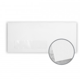 Via Smooth 100% Cool White Envelopes - No. 10 Window (4 1/8 x 9 1/2) 24 lb Writing Smooth  100% Recycled 500 per Box