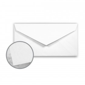 Via Smooth Bright White Envelopes - Monarch (3 7/8 x 7 1/2) 24 lb Writing Smooth  30% Recycled 500 per Box