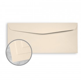 Via Smooth Cream White Envelopes - No. 10 Commercial (4 1/8 x 9 1/2) 70 lb Text Smooth  30% Recycled 500 per Box
