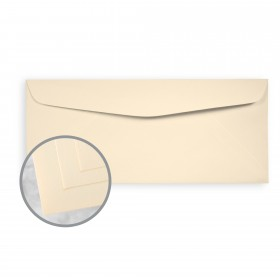 Via Smooth Ivory Envelopes - No. 10 Commercial (4 1/8 x 9 1/2) 70 lb Text Smooth  30% Recycled 500 per Box