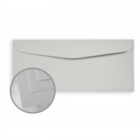 Via Smooth Light Gray Envelopes - No. 10 Commercial (4 1/8 x 9 1/2) 24 lb Writing Smooth  30% Recycled Watermarked 500 per Box
