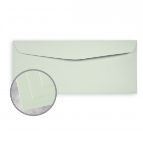 Via Smooth Light Green Envelopes - No. 10 Commercial (4 1/8 x 9 1/2) 24 lb Writing Smooth  30% Recycled Watermarked 500 per Box