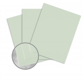 Via Smooth Light Green Card Stock - 8 1/2 x 11 in 80 lb Cover Smooth  30% Recycled 250 per Package