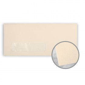 Via Smooth Natural Envelopes - No. 10 Window (4 1/8 x 9 1/2) 24 lb Writing Smooth  30% Recycled 500 per Box