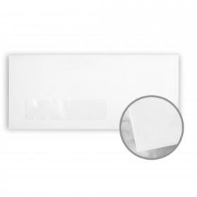 Via Smooth Pure White Envelopes - No. 10 Window (4 1/8 x 9 1/2) 24 lb Writing Smooth 500 per Box
