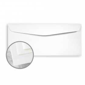 Via Smooth Pure White Envelopes - No. 10 Commercial (4 1/8 x 9 1/2) 24 lb Writing Smooth Watermarked 500 per Box