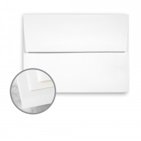 Via Smooth Pure White Envelopes - A8 (5 1/2 x 8 1/8) 70 lb Text Smooth 250 per Box