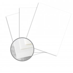 Via Smooth Pure White Card Stock - 8 1/2 x 11 in 80 lb Cover Smooth 250 per Package