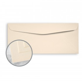 Via Smooth Warm White Envelopes - No. 10 Commercial (4 1/8 x 9 1/2) 24 lb Writing Smooth  30% Recycled Watermarked 500 per Box