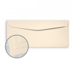 Via Vellum Cream White Envelopes - No. 10 Commercial (4 1/8 x 9 1/2) 60 lb Text Vellum  30% Recycled 500 per Box
