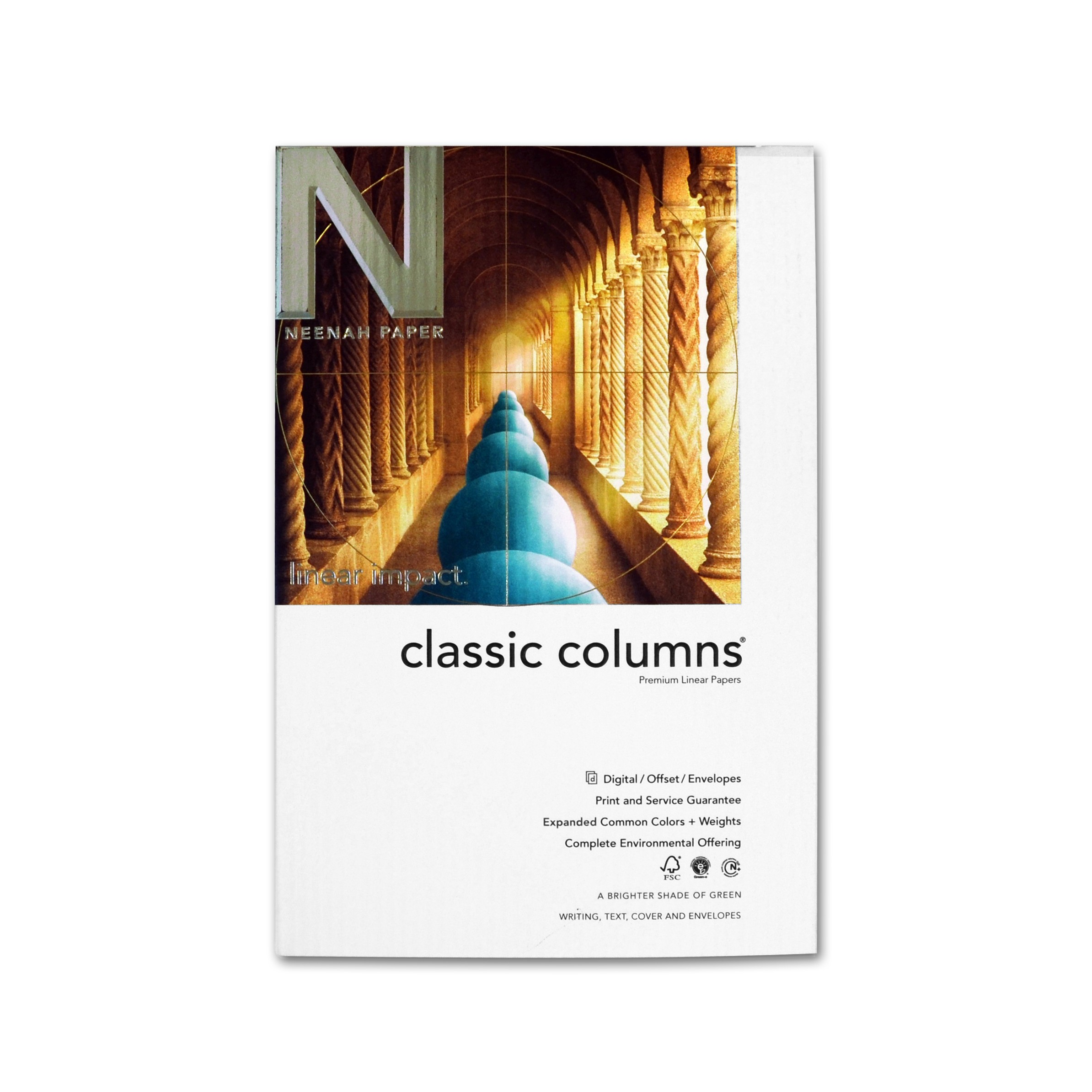 Avalanche white paper 25 x 38 in 80 lb text embossed for Classic columns paper