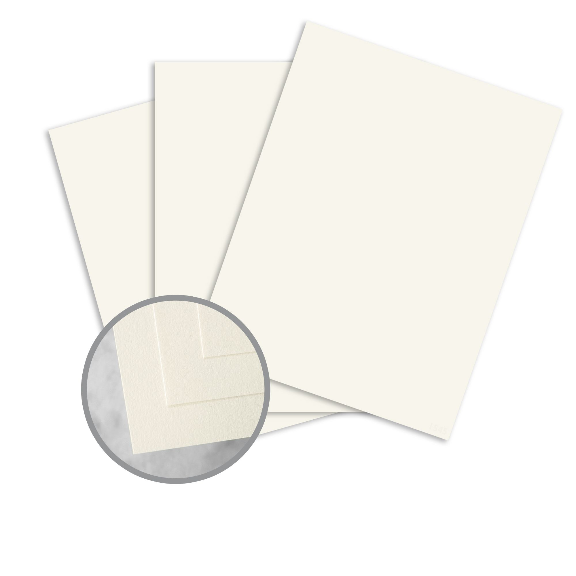 Neenah Classic Crest Natural White Card Stock 80 lb cover 50 pack