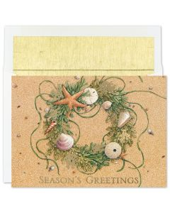 Beach Wreath Cards from the Fine Impressions Warmest Wishes Collection.