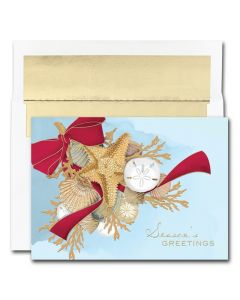 Shell Swag Cards from the Fine Impressions Warmest Wishes Collection.  | 3-FI-844400 | The Paper Mill Store .com