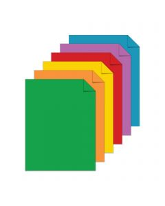 Astrobrights Primary Two 6-Color Assortment Cardstock - 8 1/2 x 11 in 65 lb Cover Smooth 60 per Package