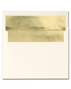 Fine Impressions Ecru (Gold Liner) Envelopes - A7 (5 1/4 x 7 1/4) 70 lb Text Vellum - 250 per Box