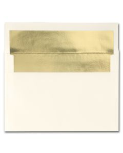 Fine Impressions Ecru (Gold Liner) Envelopes - A8 (5 1/2 x 8 1/8) 70 lb Text Vellum - 250 per Box