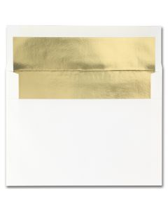 Fine Impressions Hi White (Gold Liner) Envelopes - A7 (5 1/4 x 7 1/4) 70 lb Text Vellum - 250 per Box