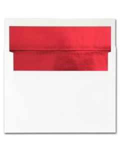 Fine Impressions Hi White (Red Liner) Envelopes - A7 (5 1/4 x 7 1/4) 70 lb Text Vellum - 250 per Box