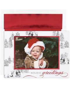 Toile Photo Card Cards from the Fine Impressions Century Greetings Collection.  | 3-FI-M0104MB | The Paper Mill Store .com